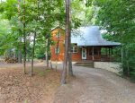 Cabin Front with 2 acres of forest