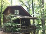 Three Bears Cabin- Enjoy the scenery around you with a peaceful view.