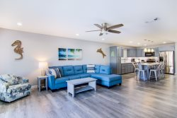 NEWLY REMODELED FOR 2020!   3 BR/3 BA accommodates 8 guests! New and unique open concept floor plan! Pool is steps from back patio, beach access steps away from front door! Come see why Seacove 3C Vitamin Sea is one of the most widely requested units!