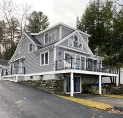 Picturesque Lakefront Retreat at Spofford Lake, Right on Private Sandy Beach