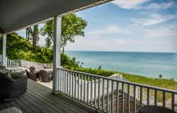 Grand Beach Lakefront - Lakefront home with hot tub.  Sleeps 14