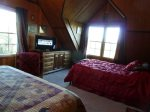 Upstairs bedroom with King size and Full size beds