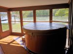 Large Hot Tub in Screened in Porch