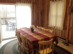 Dining room table with views of the Shenandoah River