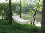 Relax in the hammock by the river