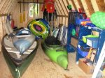 Shed with Canoe/Kayak/Yard Games