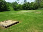 horseshoe pits in the lower field