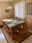 Laundry room, board game table