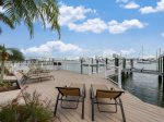 Huge waterside deck with expansive bay views