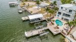 Aerial view of dock, deck and pool area
