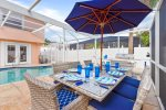 Enjoy a meal by the pool