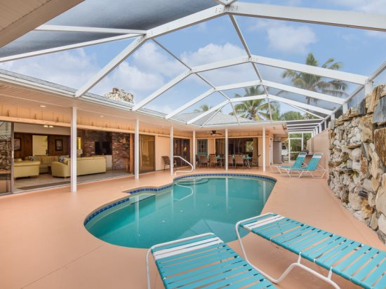 Exceptional Executive 6 Bedroom Rental Home Across From Fort Myers Beach  With New Granite Kitchens And