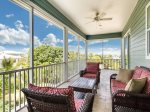 Screened Porch 3rd level offers bay views