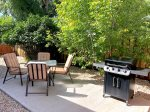 Outdoor dining area with propane grill