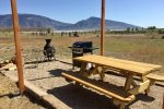 Picnic area with grill and firepit