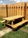 Picnic Table in private yard