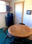 Bunkhouse game table, microwave and coffee pot